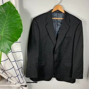 Albert Nipon Wool Blazer Sport Coat Black Size 42